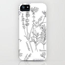 Summer herbs iPhone Case