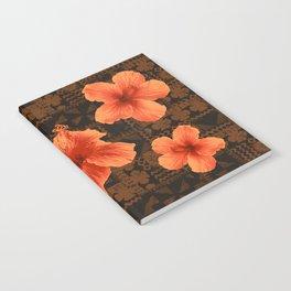Kalalau Tapa Hawaiian Hibiscus Vintage Inspired Print Notebook