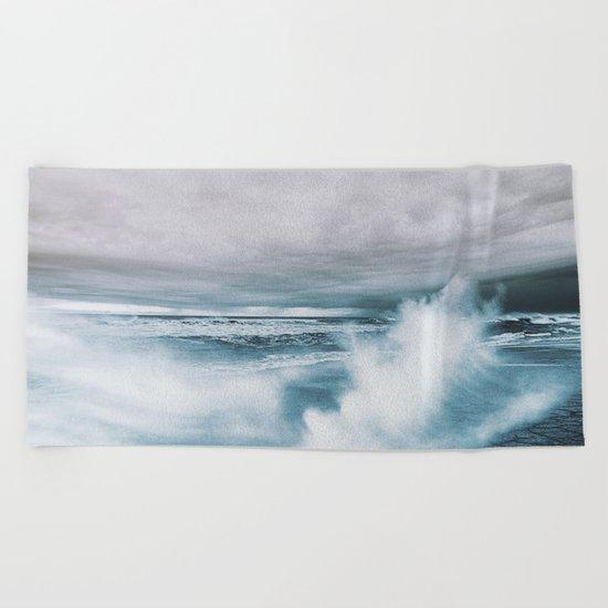Moody Ocean Beach Towel