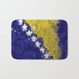 Bosnian Flag Bath Mat