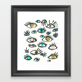 Pop Eyes Framed Art Print