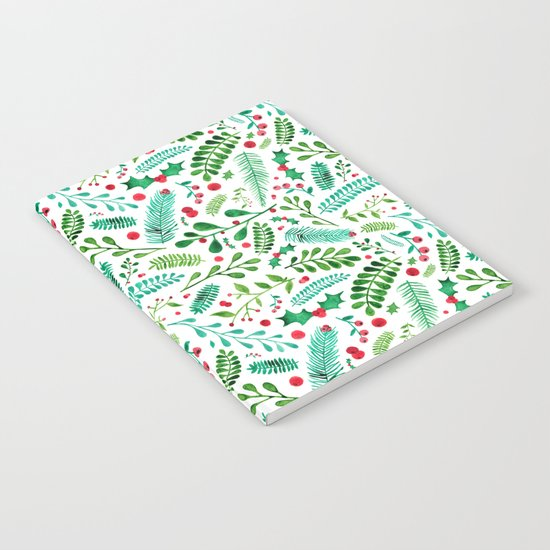 Christmas Florals Notebook