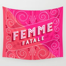 Femme Fatale Wall Tapestry