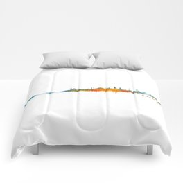 Istanbul City Skyline Hq v2 Comforters