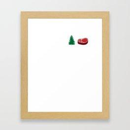 Grab Some Pine, Steak Funny Fitness Framed Art Print