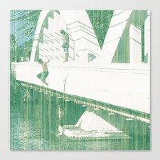 Bridge Jumping Canvas Print
