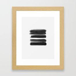 Stripes - No Comment #1 #minimal #painting #decor #art #society6 Framed Art Print