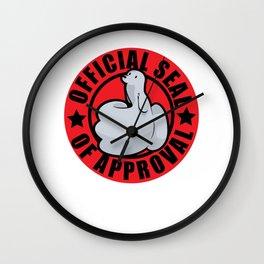 seal seal word game seal funny gift Wall Clock