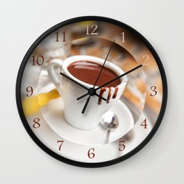 hot milk chocolate and ginger cookie Wall Clock