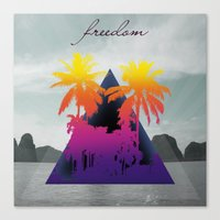 freedom Canvas Prints featuring freedom by mark ashkenazi