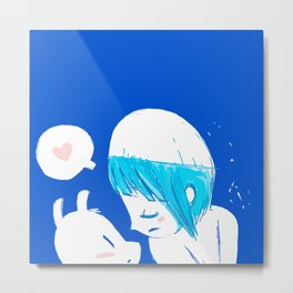 Blue lovers Metal Print