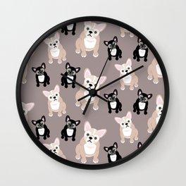 French Bulldog Puppies Wall Clock
