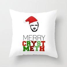 Merry Crystmeth! Throw Pillow