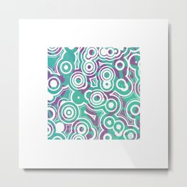 Square retro design Metal Print