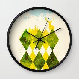 Elegant Forest Wall Clock