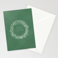 Simple Christmas Wreath Stationery Cards
