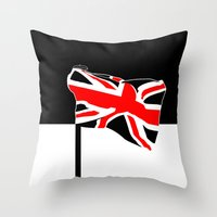 union jack Throw Pillows featuring Union Jack by Visually Interesting