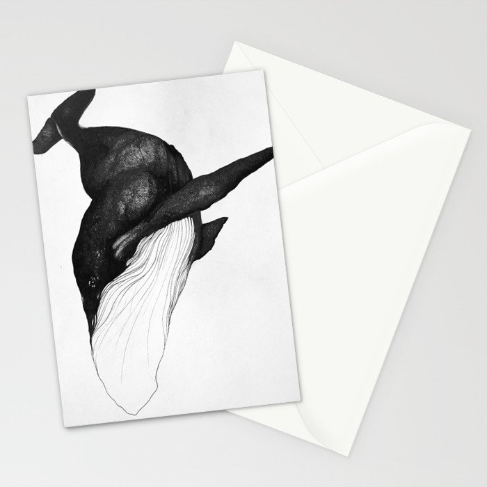 Blue Whale Sea King Stationery Cards