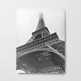 Eiffel Tower (Black and White) Metal Print
