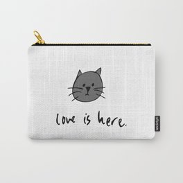 Love is Here (Grey Cat 2) Carry-All Pouch