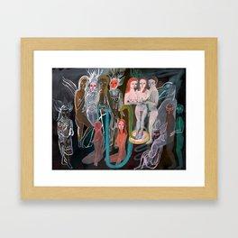 Swimming in the Spirit World Framed Art Print