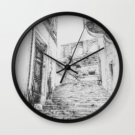 Stairs to Malta Wall Clock