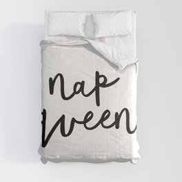 Nap Queen black and white typography poster gift for her girlfriend home wall decor bedroom Comforters