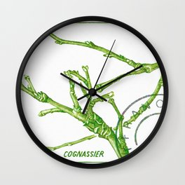 Branch of a Quince tree in Winter Wall Clock