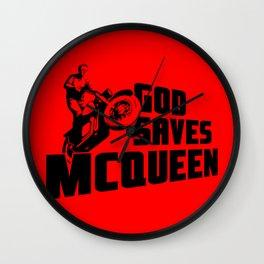 God saves McQueen Wall Clock