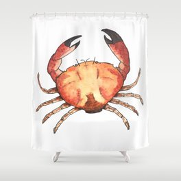 Crab: Fish of Portugal Shower Curtain