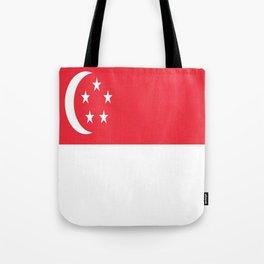 Flag of Singapore Tote Bag