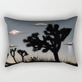 Joshua Tree Space Invasion by C.Reyes Rectangular Pillow