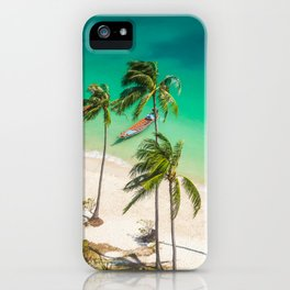 An Aerial view of a Scenic Beach in Thailand iPhone Case