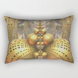 Gold Fractals Rectangular Pillow