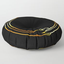 The symbol of Ouroboros snake in gold colors Floor Pillow