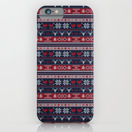 Ugly Christmas Sweater Knitting Pattern iPhone Case