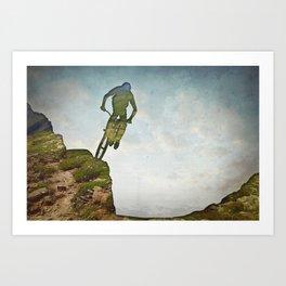 Biking Off Road Art Print
