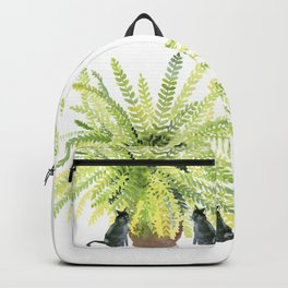 Fern and Two Cats Backpack