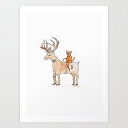 Deer Suit, Cat Suit Art Print
