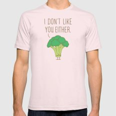 Broccoli don't like you either Light Pink Mens Fitted Tee MEDIUM