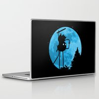 finn and jake Laptop & iPad Skins featuring A.T. - With Finn and Jake by Duke Dastardly