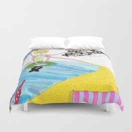 The Sand and The Sea Duvet Cover