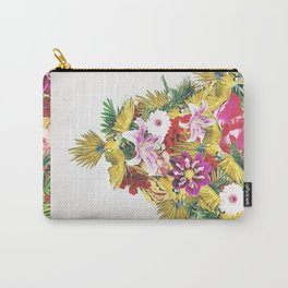 Parrot Floral Carry-All Pouch