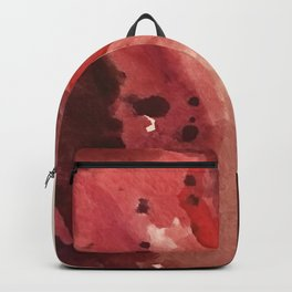 Starlight [4]: a pretty abstract watercolor piece in reds and purples by Alyssa Hamilton Art Backpack