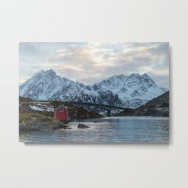 Lofoten winter Metal Print