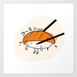 Salmon Sushi Art Print