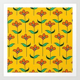 Genevieve - Yellow Art Print