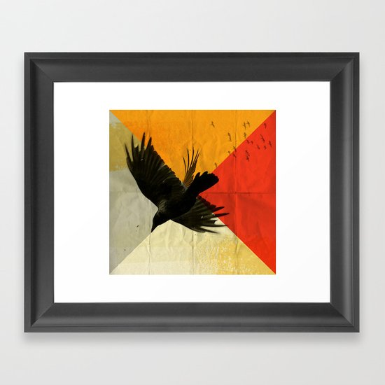 pitch of a ravin Framed Art Print