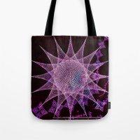 snowflake Tote Bags featuring Snowflake by Nick Brummer