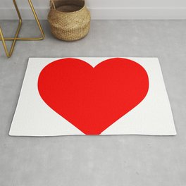 Heart (Red & White) Rug